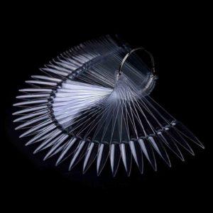 Палитра для лаков и дизайна «Стилет» на кольце Прозрачная, 50цв