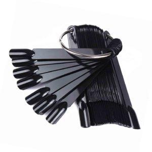 Палитра для лаков и дизайна «Веер» на кольце Черная, 50цв