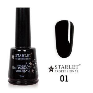 Starlet, Гель-лак №001 «Черный агат», 7мл