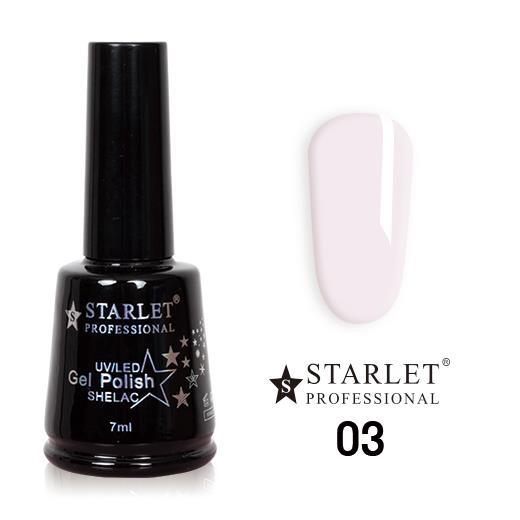 Starlet, Гель-лак №003 «Молочный», 7мл