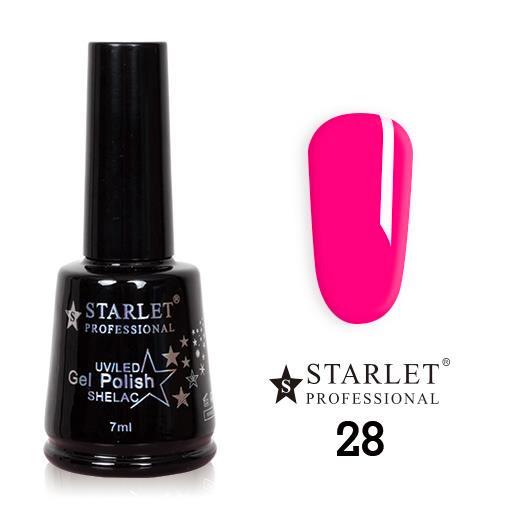 Starlet, Гель-лак №028 «Розовое ожерелье», 7мл