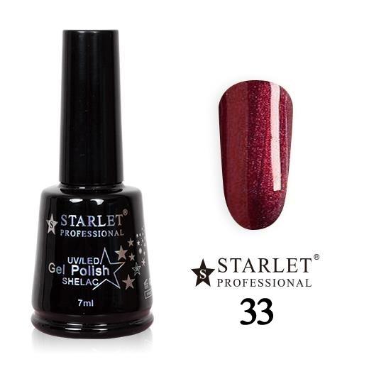 Starlet, Гель-лак №033 «Перламутровый рубин», 7мл