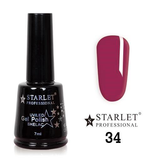 Starlet, Гель-лак №034 «Сладкая черешня», 7мл