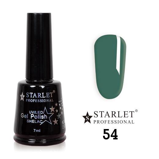Starlet, Гель-лак №054 «Морской зеленый», 7мл