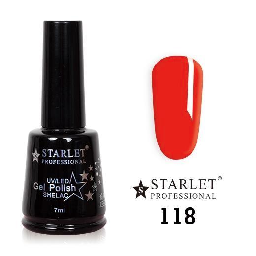 Starlet, Гель-лак №118 «Красный цветочек», 7мл