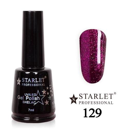 Starlet, Гель-лак №129 «Ночное танго», 7мл