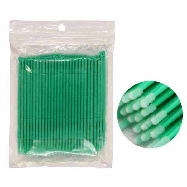 Микробраши в пакете 1.5мм, зеленые 100шт