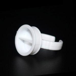 Кольцо для клея с перегородкой 17мм Белое