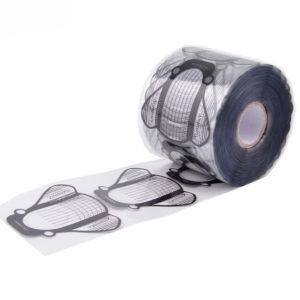 Одноразовые прозрачные формы «Мошка» (широкие, черные), 500шт
