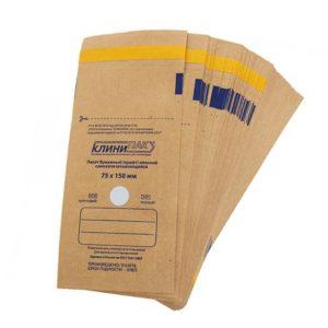 КлиниПак, Крафт-пакеты для стерилизации 75х150мм