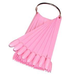 Палитра для лаков и дизайна «МИНДАЛЬ» на кольце Розовая, 50цв