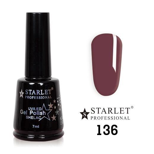 Starlet, Гель-лак №136 «Ягодный поцелуй», 7мл