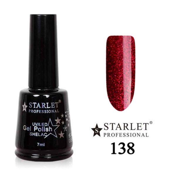 Starlet, Гель-лак №138 «Зимняя вишня», 7мл