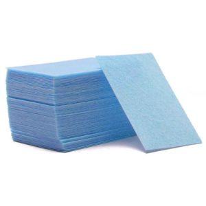 Безворсовые салфетки плотные, Голубые ~60шт