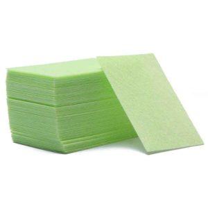 Безворсовые салфетки плотные, Зеленые ~60шт