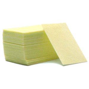 Безворсовые салфетки плотные, Желтые ~60шт