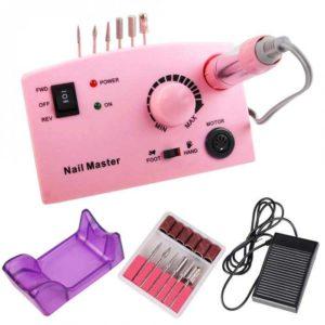 ZS-602, Аппарат для маникюра и педикюра 65W 35 000 об/мин, розовая