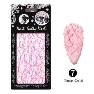 3D Сетка для дизайна ногтей №07, розовое