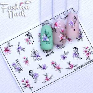 Fashion Nails, Слайдер дизайн 3D-100