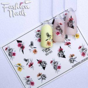Fashion Nails, Слайдер дизайн 3D-101