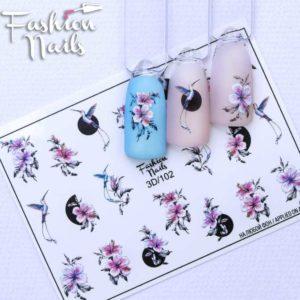 Fashion Nails, Слайдер дизайн 3D-102