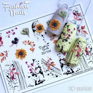 Fashion Nails, Слайдер дизайн 3D-104
