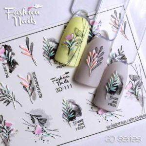 Fashion Nails, Слайдер дизайн 3D-111