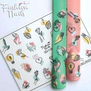 Fashion Nails, Слайдер дизайн 3D-116