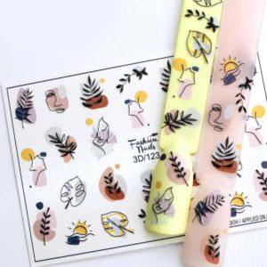 Fashion Nails, Слайдер дизайн 3D-123