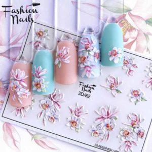 Fashion Nails, Слайдер дизайн 3D-82