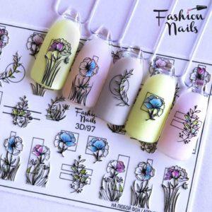 Fashion Nails, Слайдер дизайн 3D-97