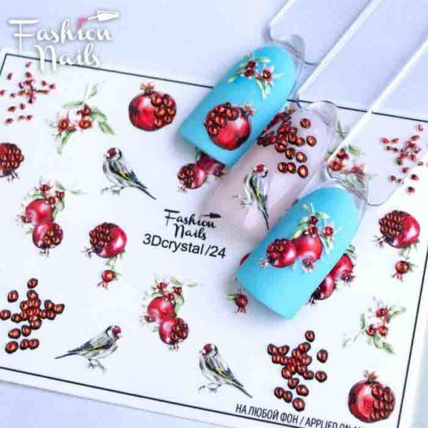 Fashion Nails, Слайдер дизайн 3Dcrystal-24