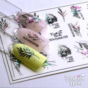 Fashion Nails, Слайдер дизайн 3Dcrystal-29
