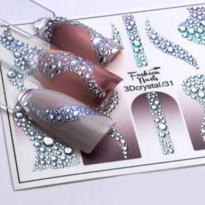 Fashion Nails, Слайдер дизайн 3Dcrystal-31