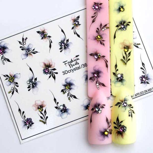 Fashion Nails, Слайдер дизайн 3Dcrystal-36