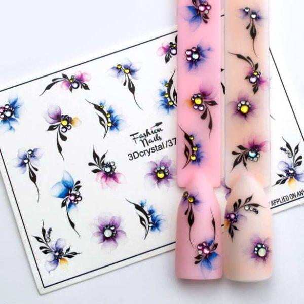 Fashion Nails, Слайдер дизайн 3Dcrystal-37