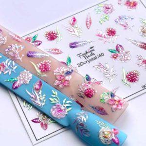 Fashion Nails, Слайдер дизайн 3Dcrystal-40