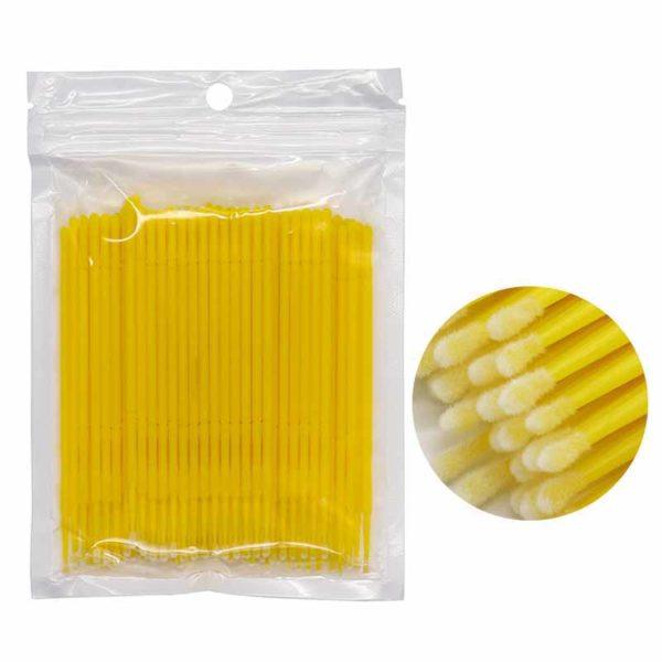 Микробраши в пакете 2.5мм, желтые 100шт