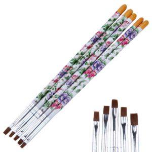 Набор кистей для росписи ногтей «Цветущий сад», 5шт