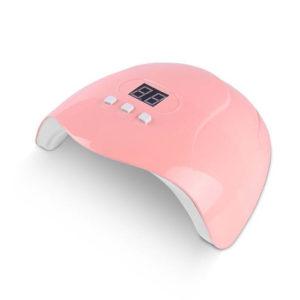 UV/LED лампа Х3 с дисплеем 54W, розовая