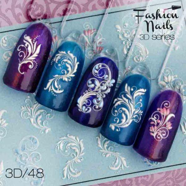 Fashion Nails, Слайдер дизайн 3D-48