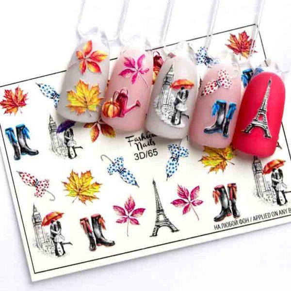 Fashion Nails, Слайдер дизайн 3D-65