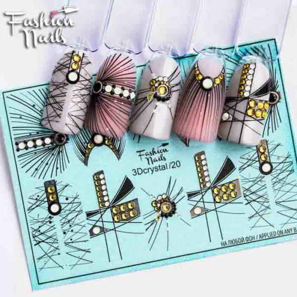 Fashion Nails, Слайдер дизайн 3Dcrystal-20