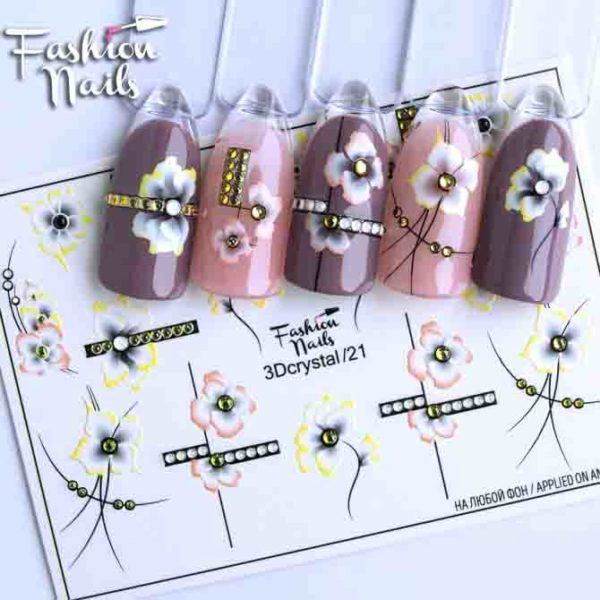 Fashion Nails, Слайдер дизайн 3Dcrystal-21
