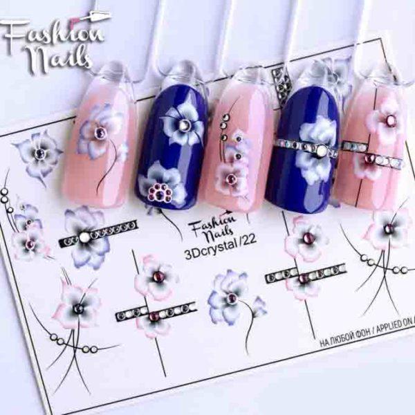 Fashion Nails, Слайдер дизайн 3Dcrystal-22