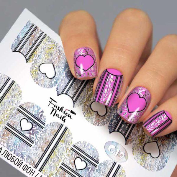 Fashion Nails, Слайдер дизайн Galaxy-19