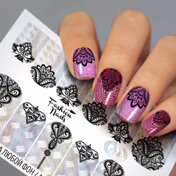 Fashion Nails, Слайдер дизайн Galaxy-23