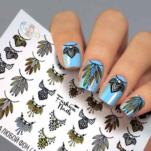 Fashion Nails, Слайдер дизайн Galaxy-35