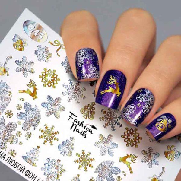 Fashion Nails, Слайдер дизайн Galaxy-45