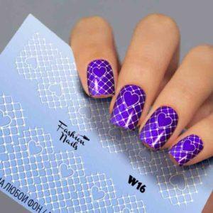 Fashion Nails, Слайдер дизайн White-16